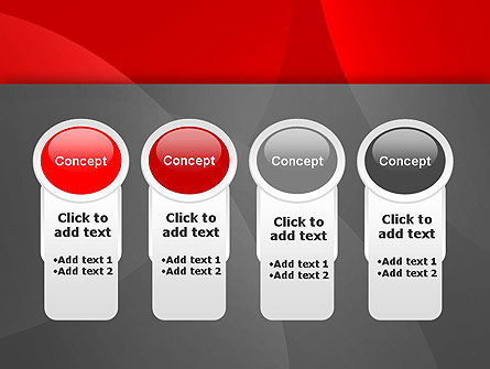 Abstract Red Circles PowerPoint Template Slide 5