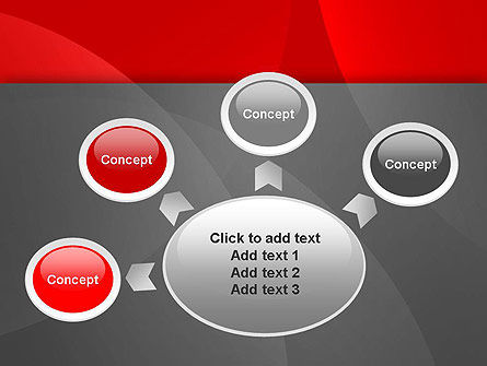 Abstract Red Circles PowerPoint Template Slide 7