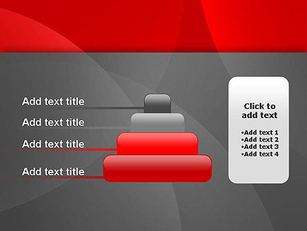 Abstract Red Circles PowerPoint Template Slide 8