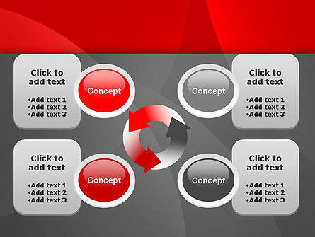Abstract Red Circles PowerPoint Template Slide 9
