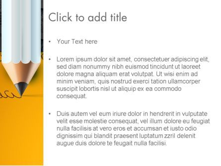 Ideas Come From Writing PowerPoint Template, Slide 3, 12835, Business Concepts — PoweredTemplate.com