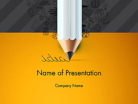Ideas Come From Writing PowerPoint Template