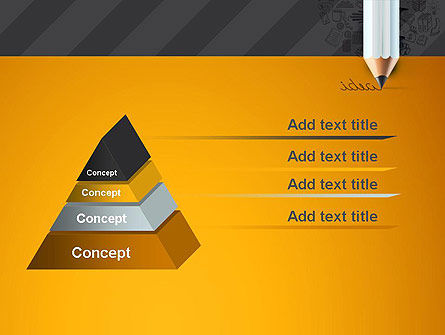 Ideas Come From Writing PowerPoint Template, Slide 4, 12835, Business Concepts — PoweredTemplate.com
