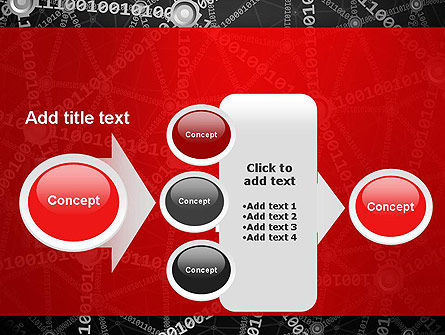 Binary Code Network Concept PowerPoint Template Slide 17