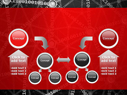 Binary Code Network Concept PowerPoint Template Slide 19