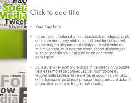 Social Media Wordcloud Concept PowerPoint Template, Slide 3, 12837, Careers/Industry — PoweredTemplate.com
