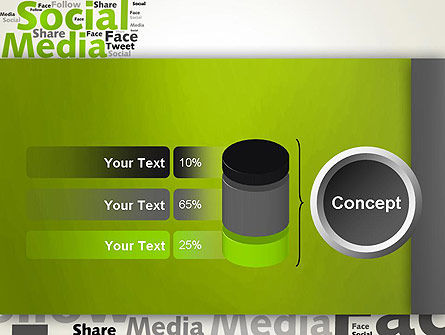 Social Media Wordcloud Concept PowerPoint Template Slide 11