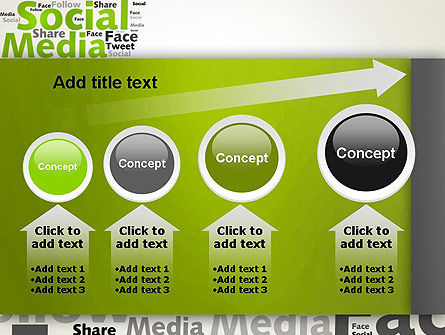 Social Media Wordcloud Concept PowerPoint Template Slide 13