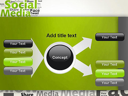 Social Media Wordcloud Concept PowerPoint Template Slide 14