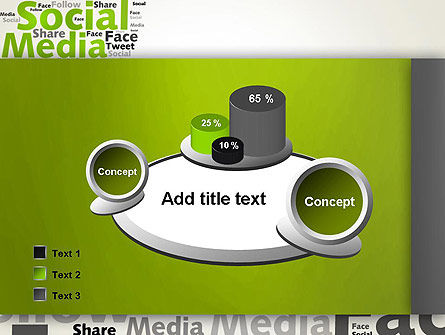 Social Media Wordcloud Concept PowerPoint Template Slide 16