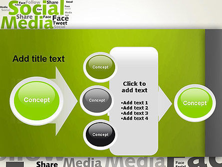 Social Media Wordcloud Concept PowerPoint Template Slide 17