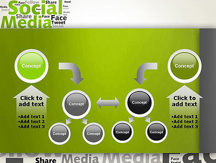 Social Media Wordcloud Concept PowerPoint Template Slide 19