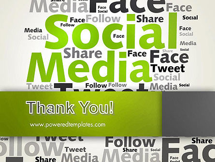 Social Media Wordcloud Concept PowerPoint Template Slide 20
