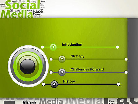 Social Media Wordcloud Concept PowerPoint Template, Slide 3, 12837, Careers/Industry — PoweredTemplate.com