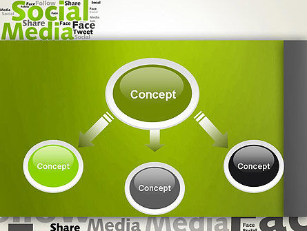 Social Media Wordcloud Concept PowerPoint Template, Slide 4, 12837, Careers/Industry — PoweredTemplate.com