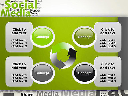 Social Media Wordcloud Concept PowerPoint Template Slide 9