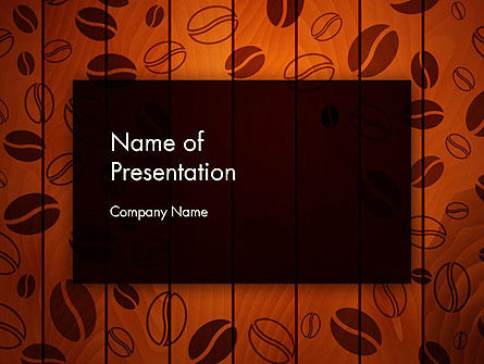 Food & Beverage: Coffee Beans Background PowerPoint Template #12838