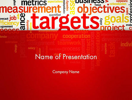 Business Targets Word Cloud PowerPoint Template