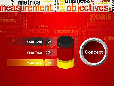 Business Targets Word Cloud PowerPoint Template Slide 11