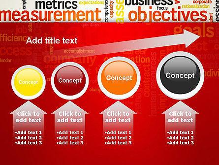 Business Targets Word Cloud PowerPoint Template Slide 13