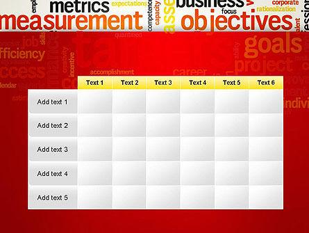 Business Targets Word Cloud PowerPoint Template Slide 15