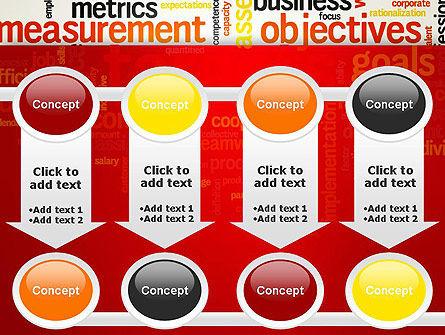 Business Targets Word Cloud PowerPoint Template Slide 18