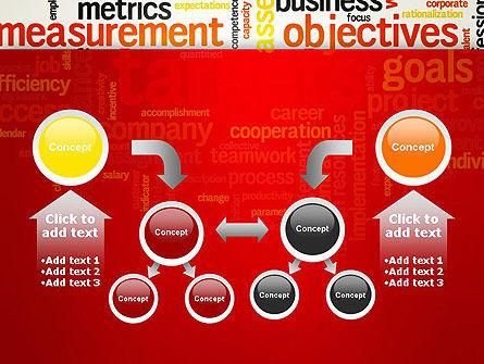 Business Targets Word Cloud PowerPoint Template Slide 19