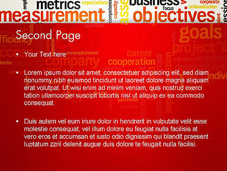 Business Targets Word Cloud PowerPoint Template Slide 2
