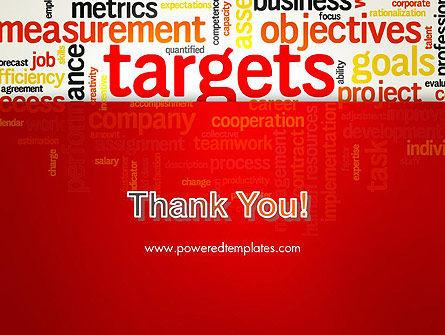 Business Targets Word Cloud PowerPoint Template Slide 20
