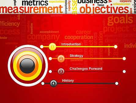 Business Targets Word Cloud PowerPoint Template Slide 3