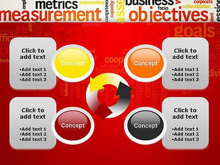 Business Targets Word Cloud PowerPoint Template Slide 9