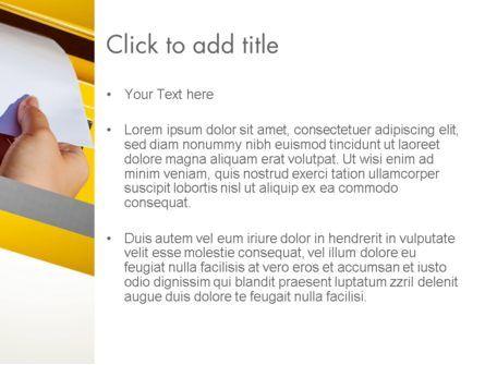 Sending Letter PowerPoint Template, Slide 3, 12841, Careers/Industry — PoweredTemplate.com