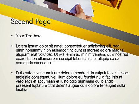 Sending Letter PowerPoint Template Slide 2