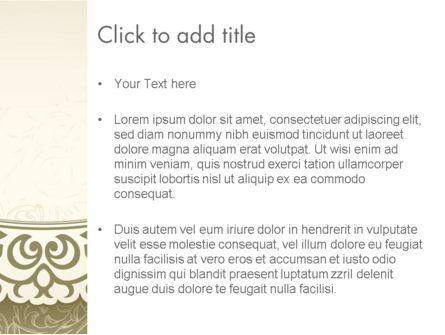 Vintage Pattern Paper Cut PowerPoint Template, Slide 3, 12842, Abstract/Textures — PoweredTemplate.com
