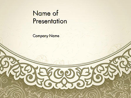 Vintage Pattern Paper Cut PowerPoint Template