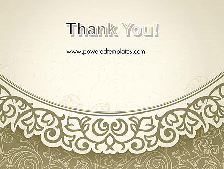 Vintage Pattern Paper Cut PowerPoint Template Slide 20