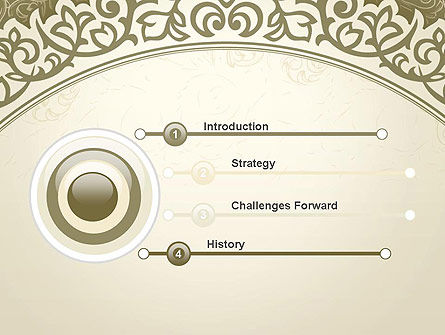 Vintage Pattern Paper Cut PowerPoint Template Slide 3