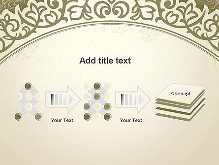 Vintage Pattern Paper Cut PowerPoint Template Slide 9