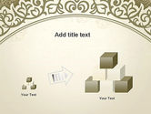 Vintage Pattern Paper Cut PowerPoint Template#13