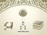 Vintage Pattern Paper Cut PowerPoint Template#19