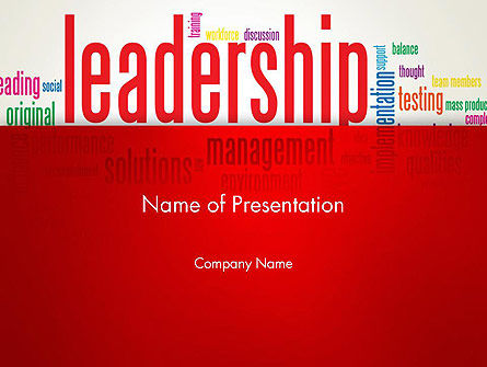 Leadership Management Word Cloud PowerPoint Template, 12844, Education & Training — PoweredTemplate.com