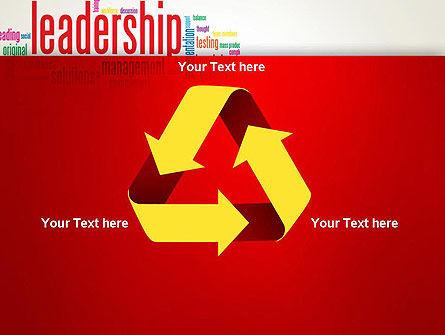 Leadership Management Word Cloud PowerPoint Template Slide 10