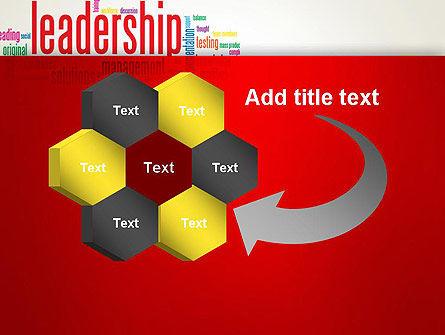 Leadership Management Word Cloud PowerPoint Template Slide 11