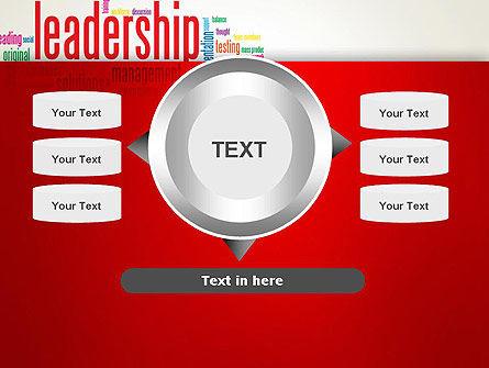 Leadership Management Word Cloud PowerPoint Template Slide 12
