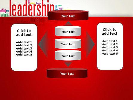 Leadership Management Word Cloud PowerPoint Template Slide 13