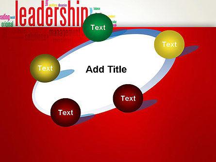 Leadership Management Word Cloud PowerPoint Template Slide 14