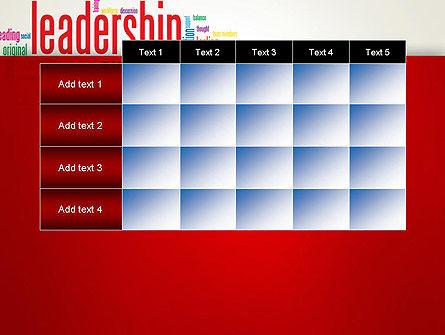 Leadership Management Word Cloud PowerPoint Template Slide 15