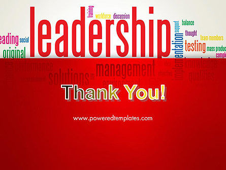Leadership Management Word Cloud PowerPoint Template Slide 20