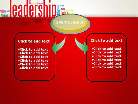 Leadership Management Word Cloud PowerPoint Template, Slide 4, 12844, Education & Training — PoweredTemplate.com