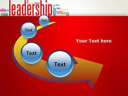 Leadership Management Word Cloud PowerPoint Template Slide 6